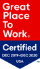 Great Place To Work: Certified Logo