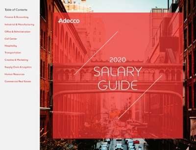 Adecco USA Salary Guide