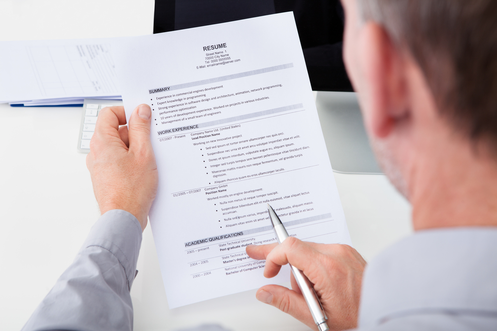 employer reviewing resume that stands out